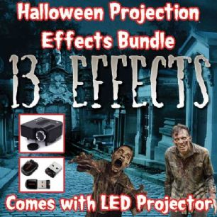 HALLOWEEN PROJECTION EFFECTS BUNDLE - 5200 LUMENS
